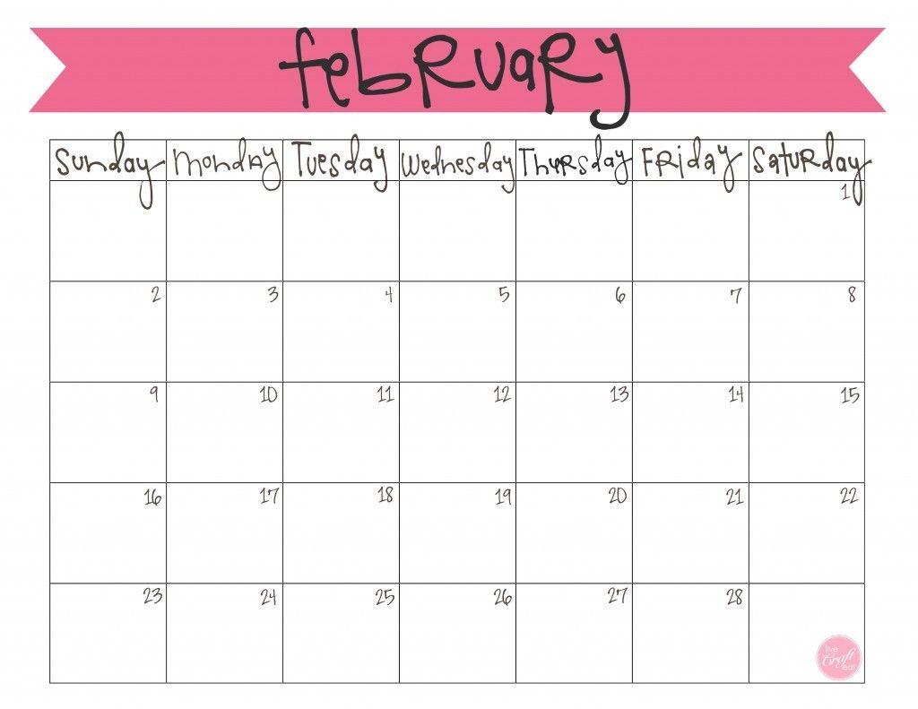 February Calendar Cute