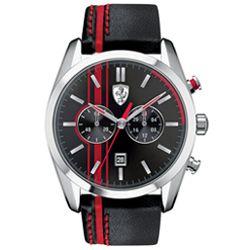 4b31458a049 Relógio Ferrari Couro Preto e Vermelho Masculino - 830177