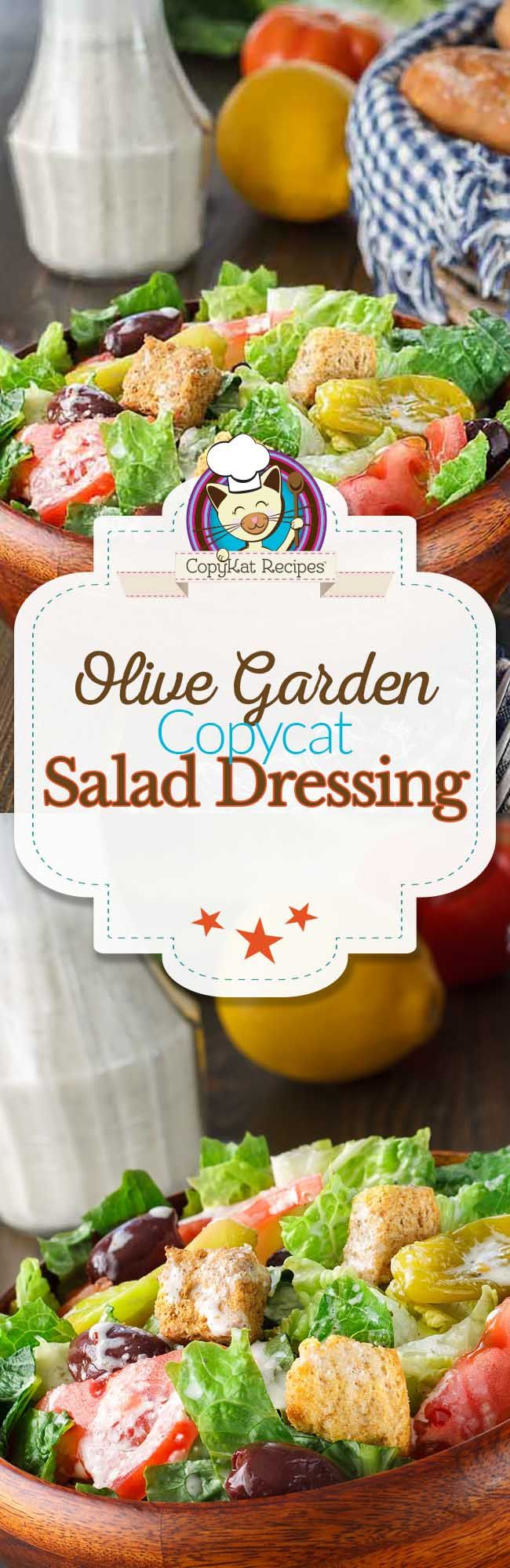 Olive Garden Salad Dressing Copycat Recipe Salad