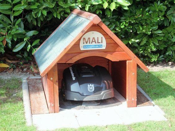 Garage Selbstbau Set : Automower garage eigenbau holzgarage garten