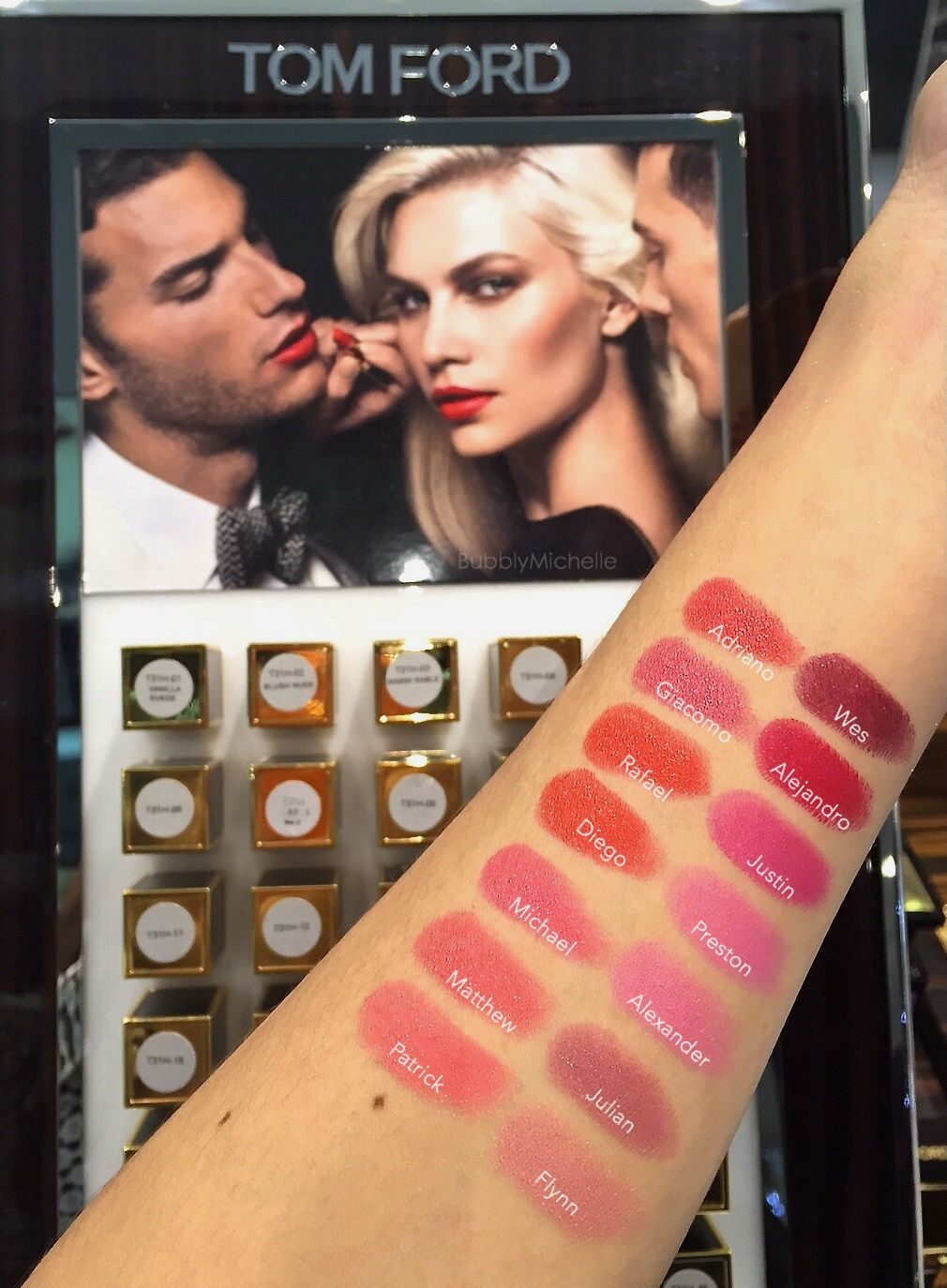 Tom Ford Lips and Boys Lipstick swatches by Bubbly Michelle