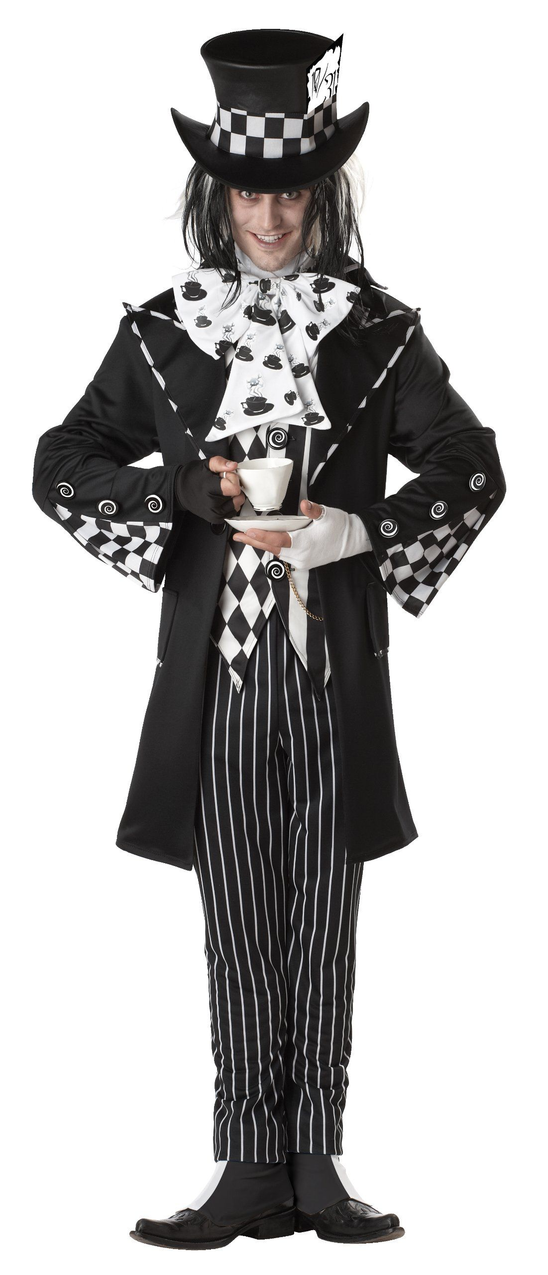 california costumes mens platium collection dark mad hatter adult multi small