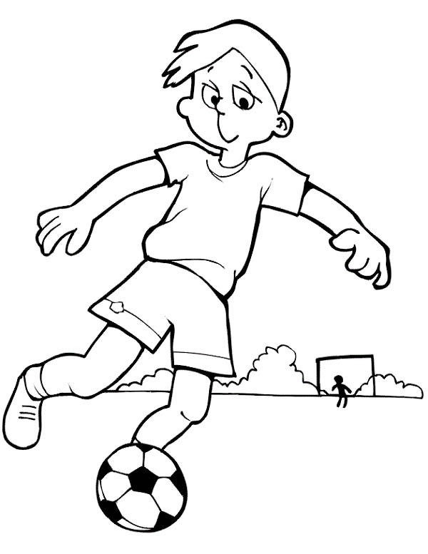 This Boy Is Practising His Soccer Move Coloring Page Download Print Online Coloring Pages For Free Col Coloring Books Free Online Coloring Coloring Pages