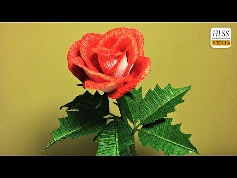 How to make rose paper flower diy rose crepe paper flower making how to make rose paper flower diy rose crepe paper flower making tutorials paper mightylinksfo