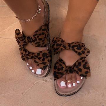 Photo of 2020 Women Sandals Shoes Bow-Knot Anti-Slip Flat Sandals Comforta