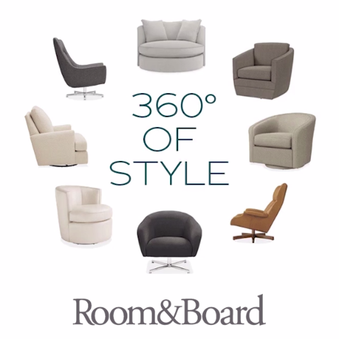 Swivel in style with our modern swivel lounge chairs ...