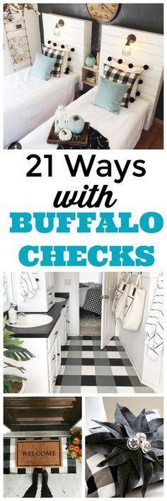 Buffalo Check Pattern Black And White Buffalo Plaid