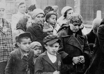 Hungarian Jews on their way to the gas chambers. Auschwitz-Birkenau, Poland, May 1944. Look at the faces...