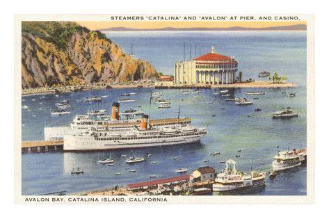 San Pedro Postcard San Pedro Catalina Island San Pedro California