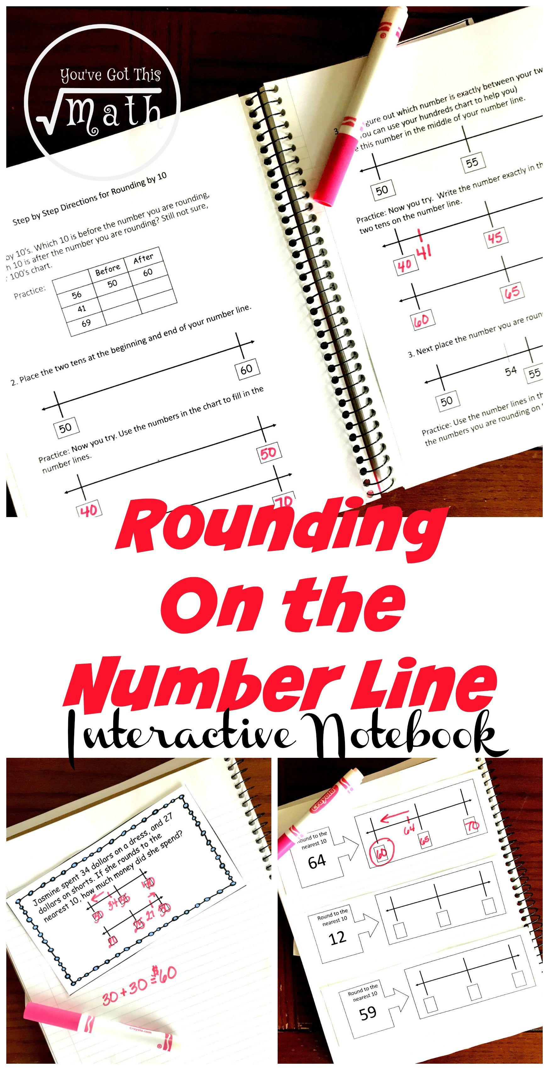 3 Interactive Notebook Activities For Rounding To Ten With