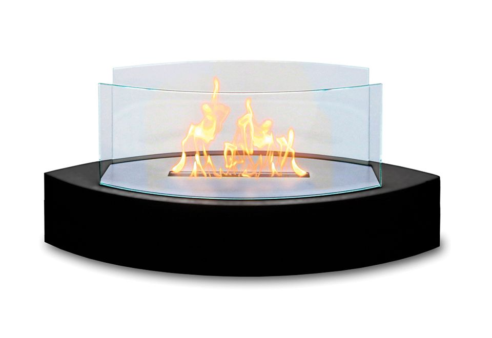 The Tabletop Fireplace From Sharper Image Creates The Cozy