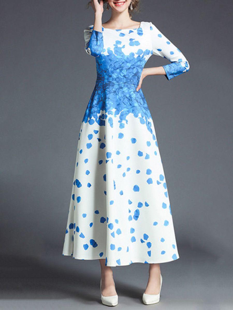 5442f323c9 Shop Flower Print Longline Dress online. SheIn offers Flower Print Longline  Dress & more to fit your fashionable needs.