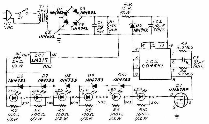 Circuit design of AA-Cell battery charger to charge six AA