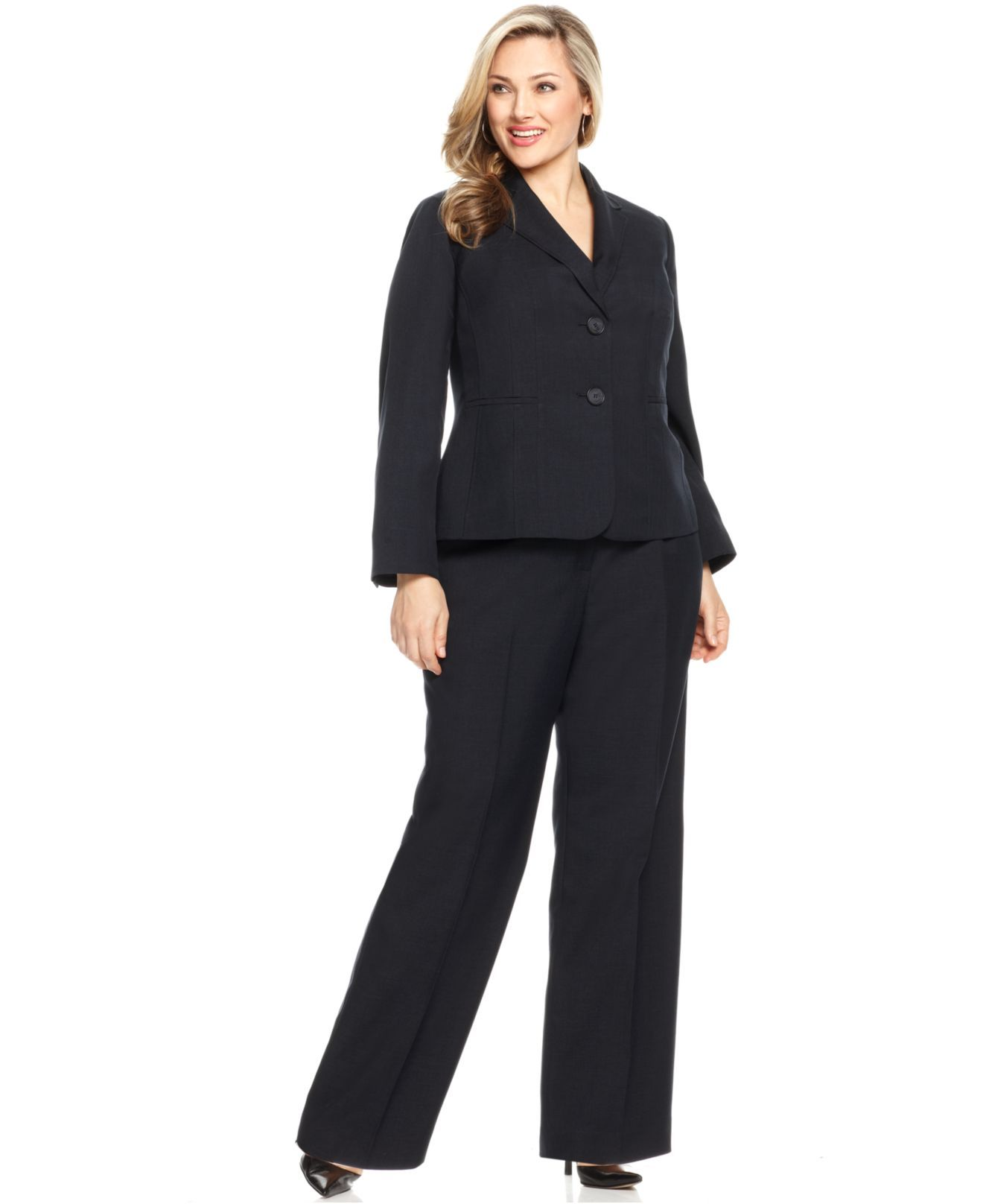 3f09a130d41a You can t go wrong with a dark pant suit.