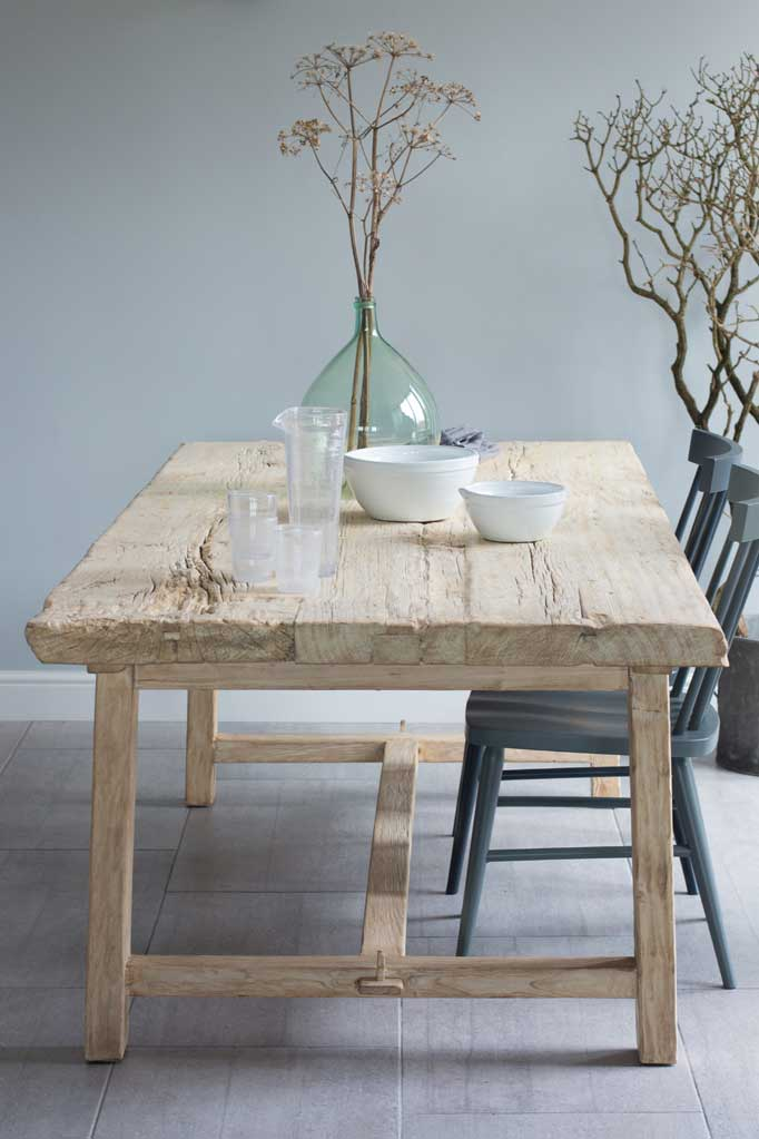 Reclaimed Elm Rustic Trestle Dining Table Rustic Trestle Dining