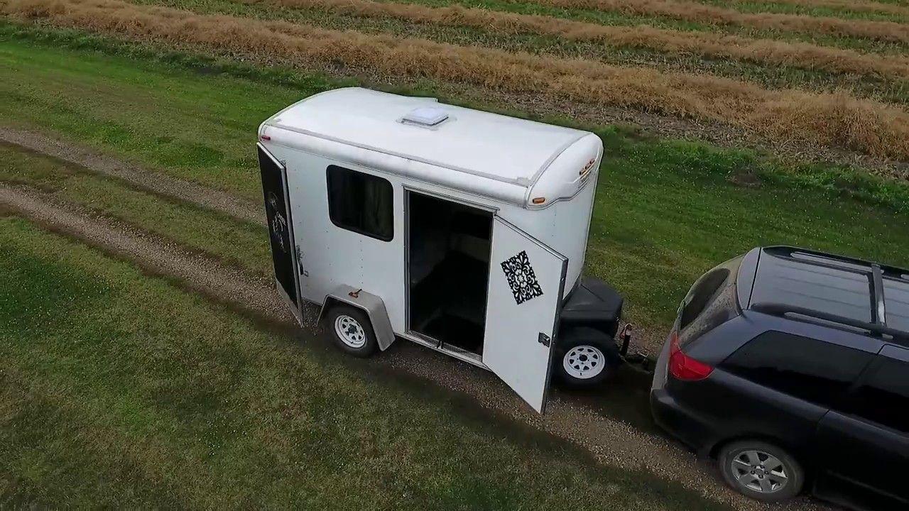 Cargo Utility Trailer Conversion 6x10 Stealth Camper Sleeps