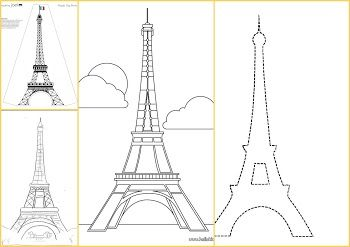 Paris Free Printable Boxes Eiffel Tower Eiffel Scrapbook
