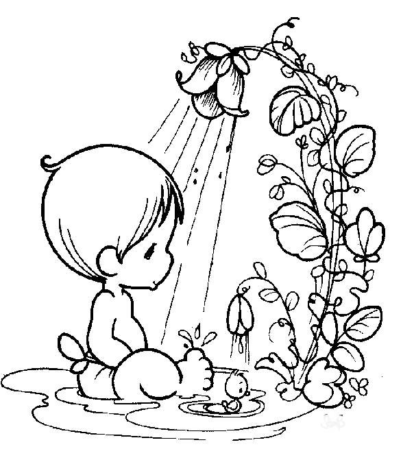 Precious Moments Baby Bathing Coloring Pages - Precious Moments ...