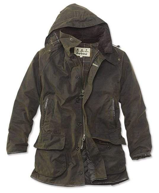 mens barbour wax jacket with hood