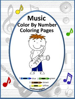 Color by Number MusicFine Motor Skills Special Education
