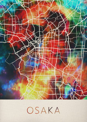 Watercolor World Cities Maps poster prints by Design Turnpike | Displate | Displate thumbnail