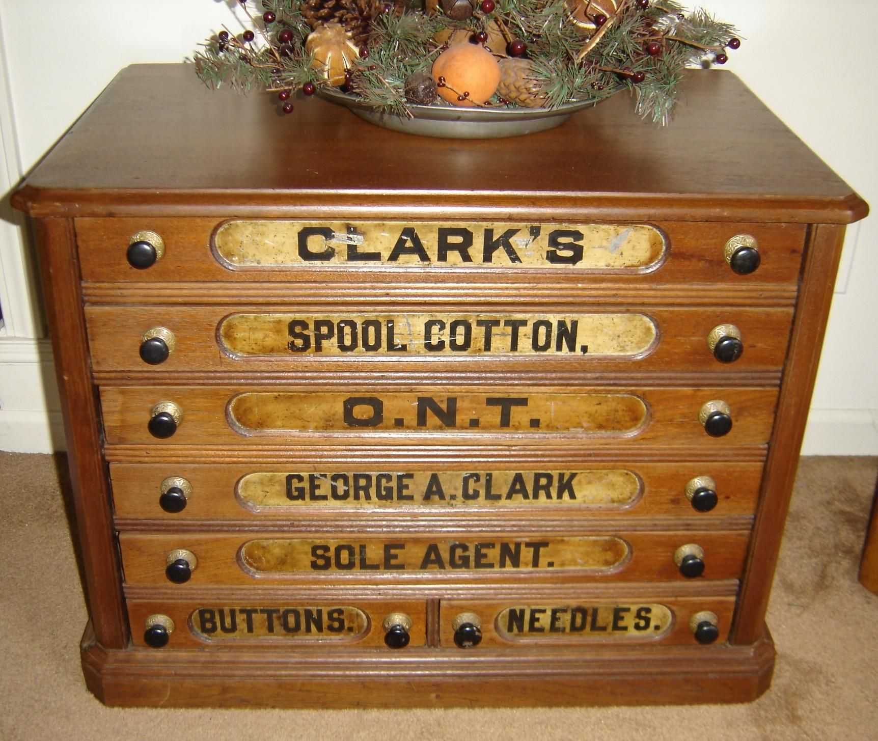 Perfect Iron Horse Antiques   Spool Cabinet~want For My Sewing Area. I Have Some  Older Wooden Spools.
