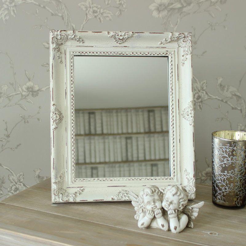 shabby chic fran ais vieilli de table miroir avec socle style baroque shabby fran ais chic. Black Bedroom Furniture Sets. Home Design Ideas