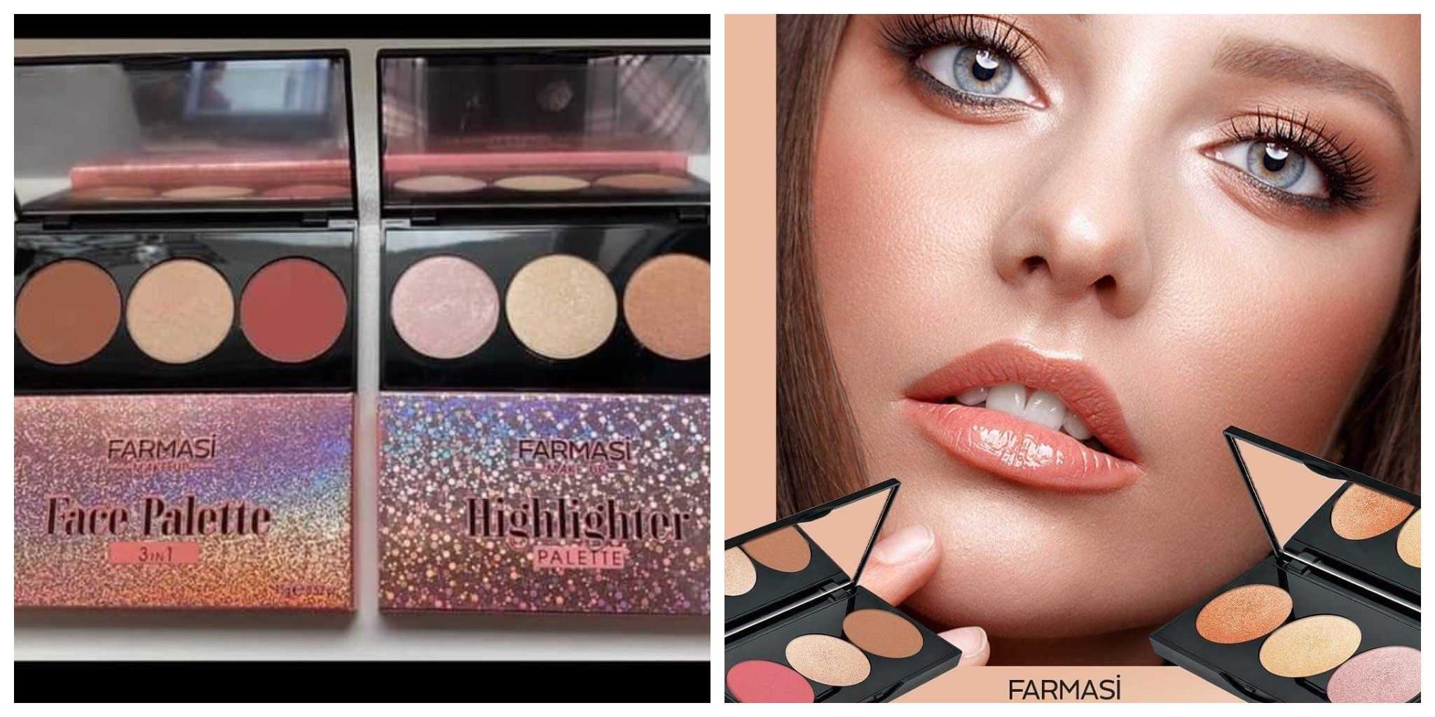 New FARMASI MAKE UP 3IN1 FACE PALETTE 15. Limited Quantity