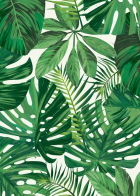 Monstera - Leaf 2 by Tomasz DÄ…bek | metal posters #tropicalpattern