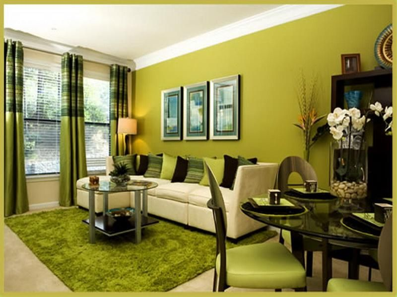 Wonderful house beautiful paint colors in green decoration for living room with modern minimalist style interior