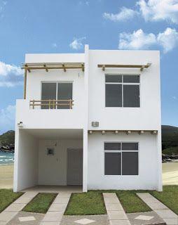 Pinterest casas minimalistas de interes social dos plantas for Fachadas de casas de 2 pisos pequenas