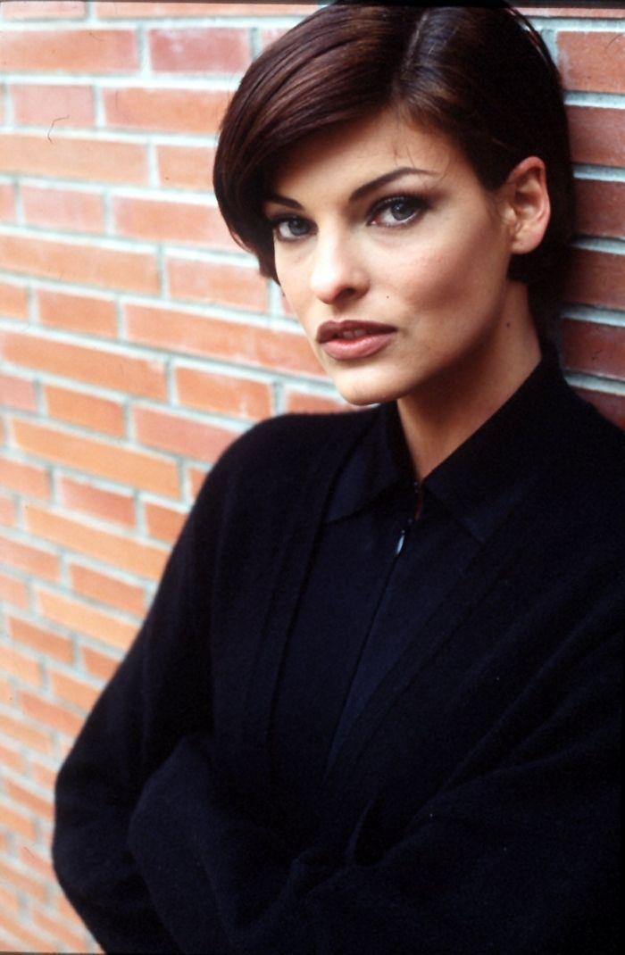 Image Result For Linda Evangelista Short Hair Linda Evangelista Original Supermodels Portrait