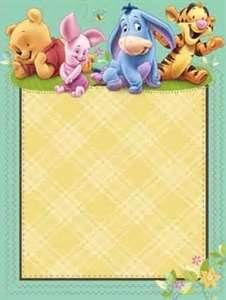 Art Baby Pooh And Friends Shower Imprintable Invitations Winnie The Party Ideas