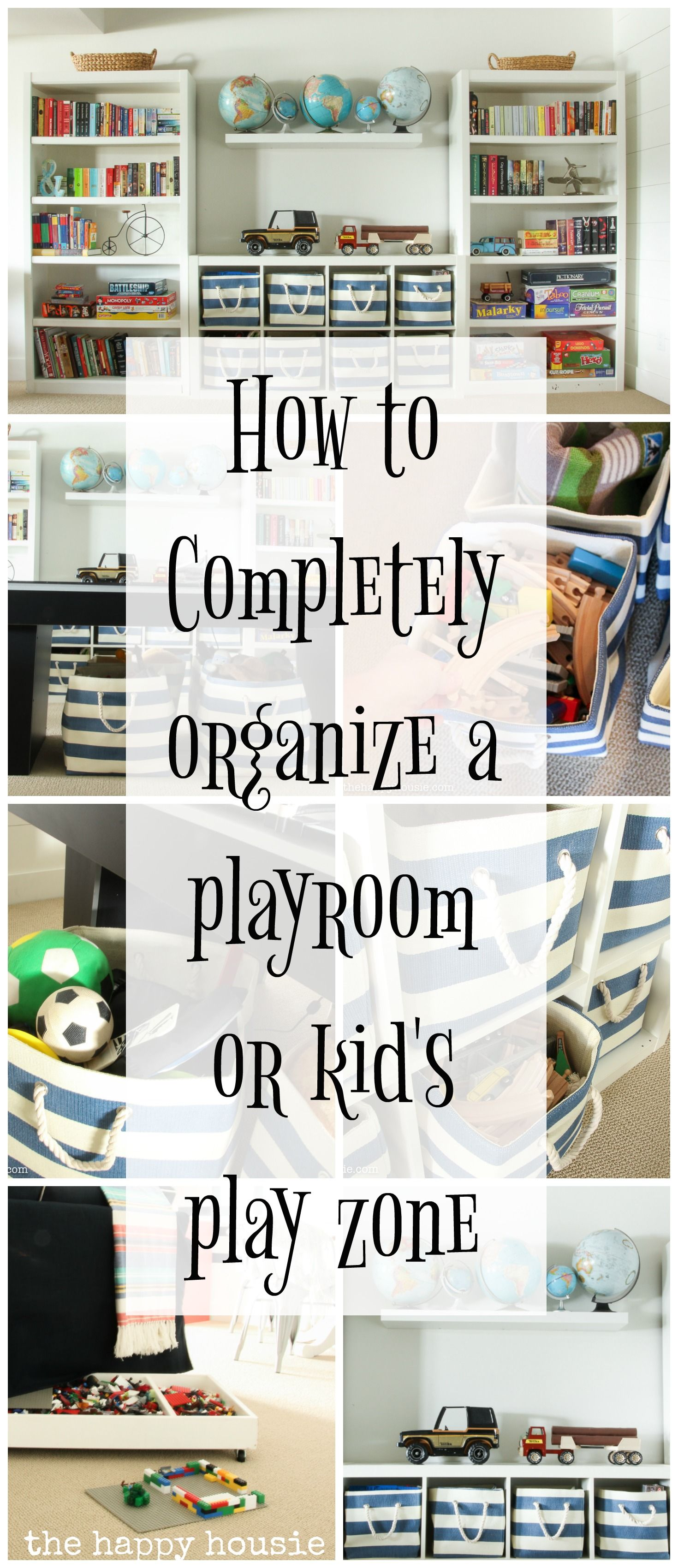 Three Simple Steps to an Organized Playroom | The Happy Housie