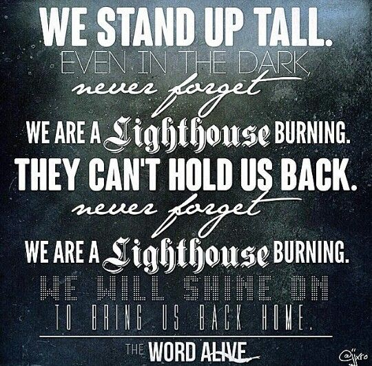 The Word Alive Lighthouse The Word Alive Alive Lyrics