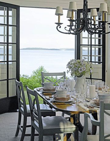 Dining Room #dining #room #chandelier #table #chair #beach