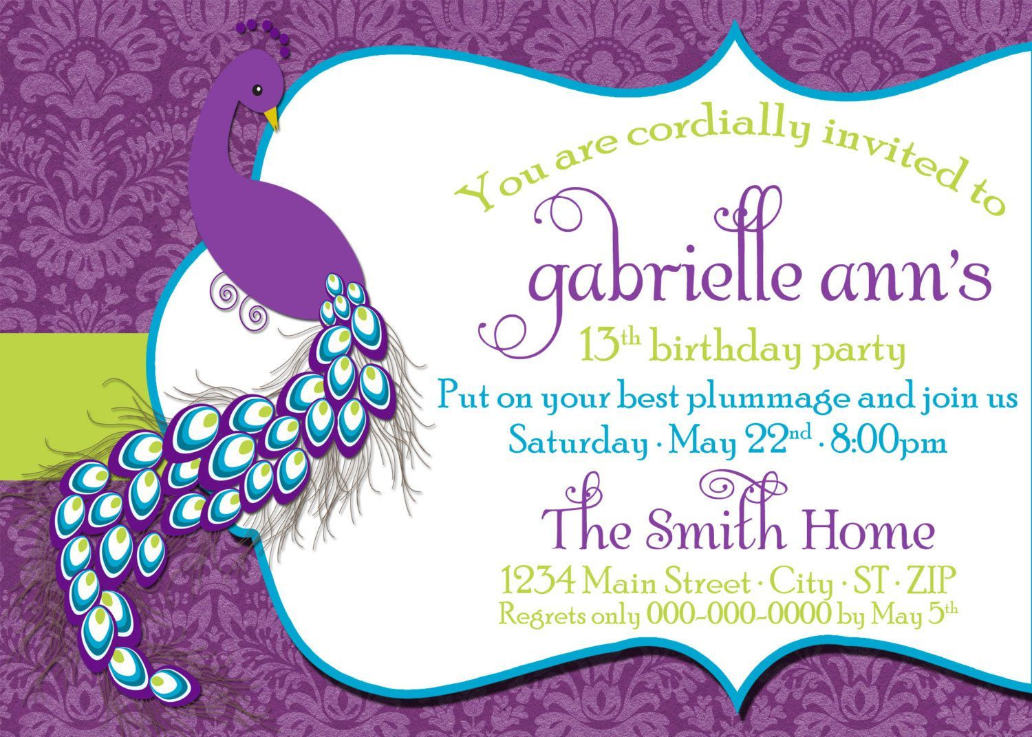 birthday party invitation dress code wording | birthday invitations ...