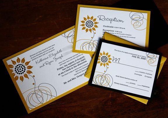 17 Best images about wedding invitations – Sunflower Wedding Invites
