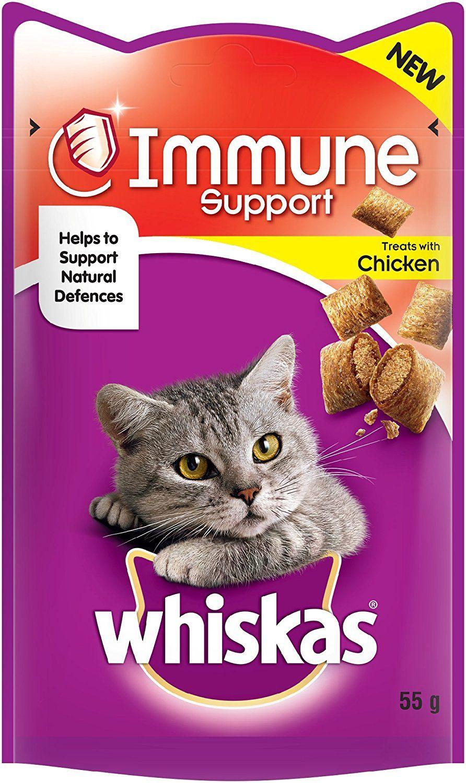 Whiskas Immune System Cat Treats 55g Pack Of 8 Amazon Co Uk Pet Supplies