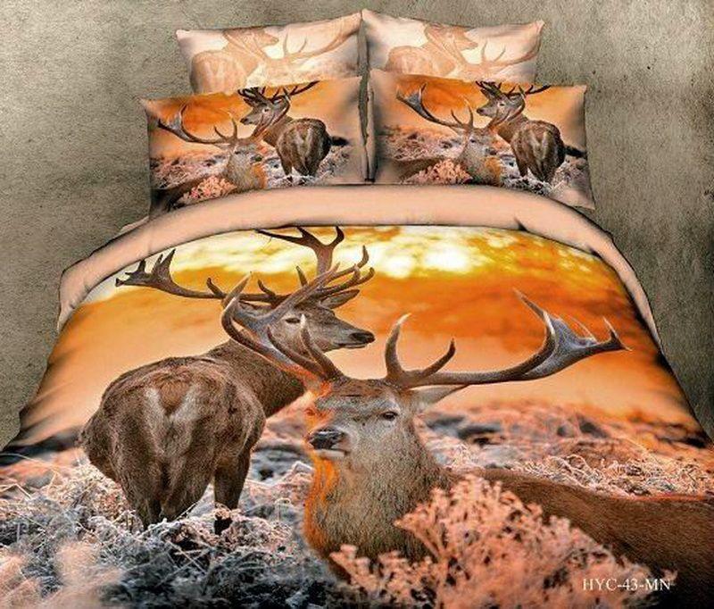 Deer Orange Bedding Animal Print Bedding 3d Bedding Animal