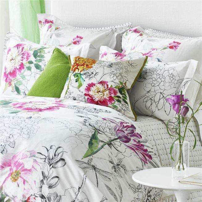 Sibylla Fuchsia Bedding Designers Guild Bed Linen Design Beautiful Bedding Luxury Bedding