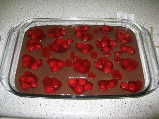 Easy As Pie Filling Chocolate Cake With Marshmallows And Cherry
