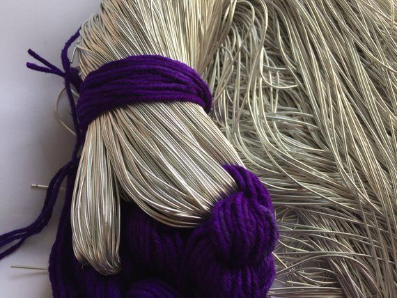 Violet Smooth Bullion for Metal Thread Embroidery