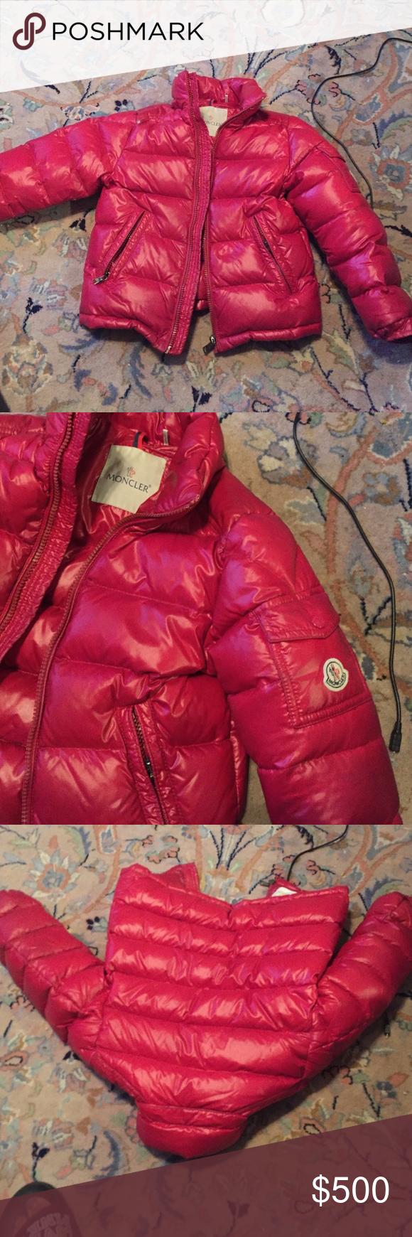 kids red moncler coat
