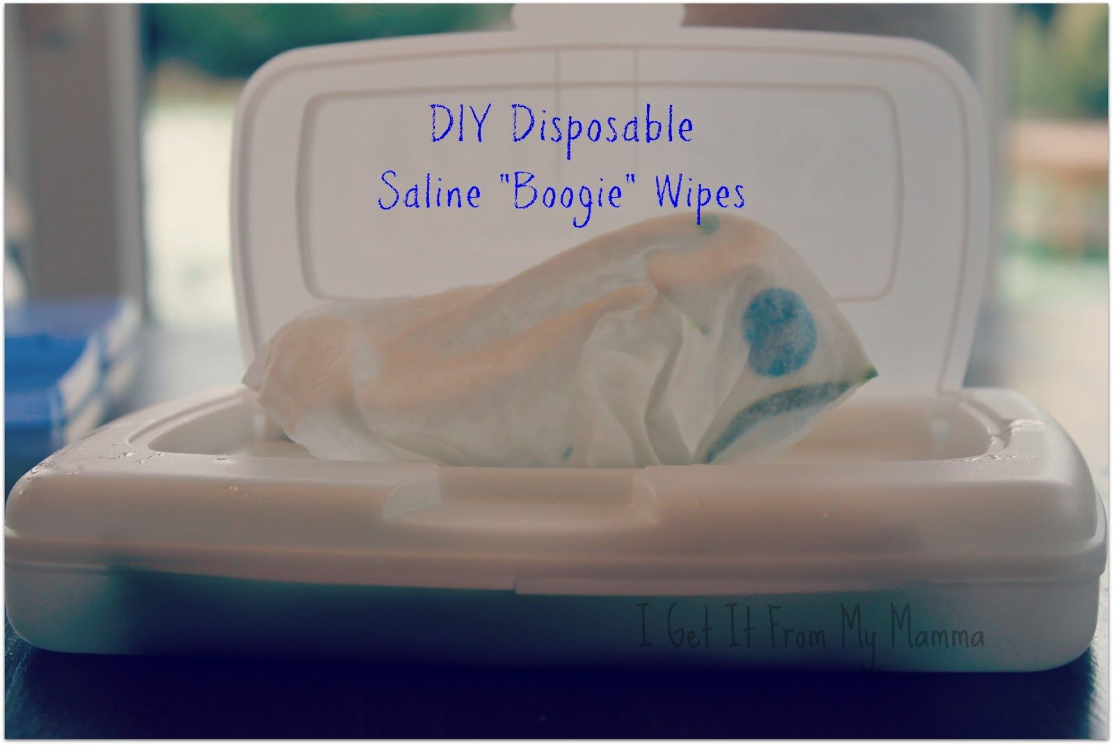 Disposable saline wipes perfect for holiday travel
