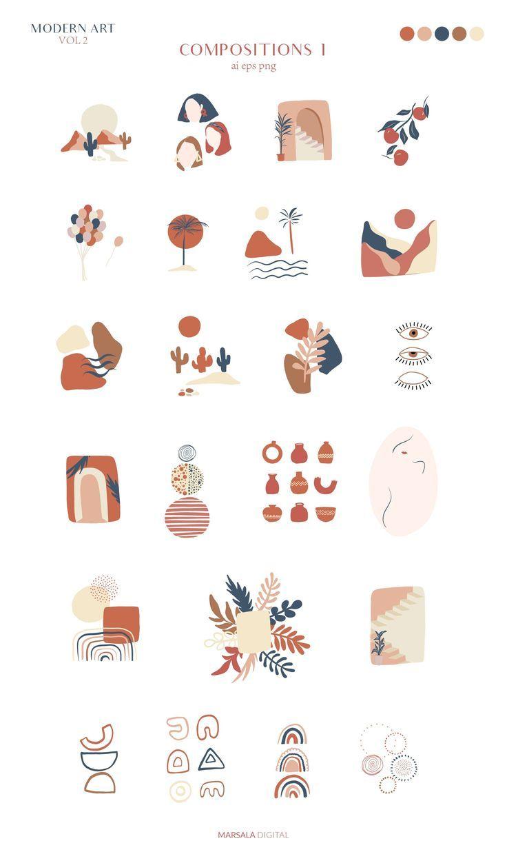 Abstract Art Line Body Figures