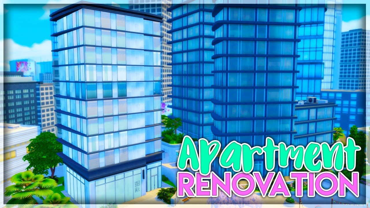 Let S Renovate An Apartment City Living The Sims 4 1313 21 Chi Sims 4 City Living City Living Apartment City Living