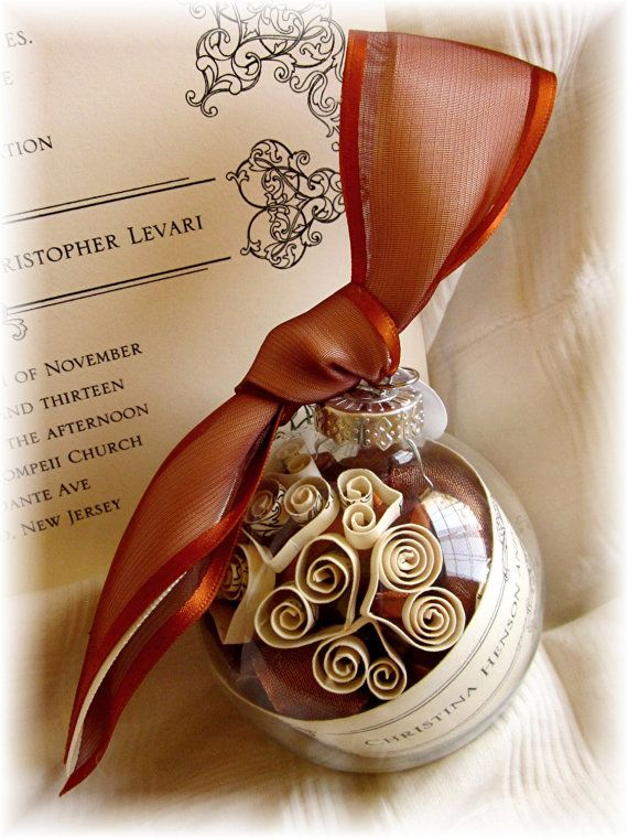 Ornaments from Invitations Parents of Bride Gift First Christmas ...