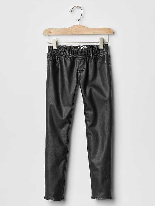 57de45464a129c Gap Girls Faux Leather Legging Jeans True Black | Products | Leather ...