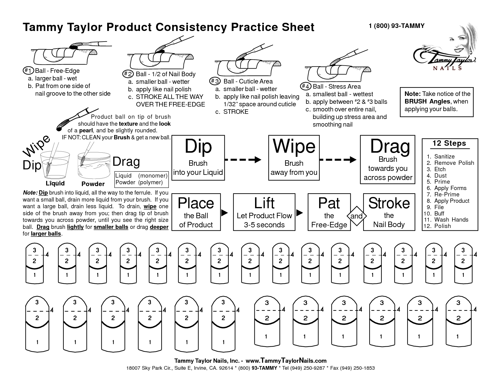 tammy taylor practice sheets free download - Cerca con Google | nail ...